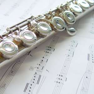 Flûte traversière avec partition