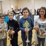 Jeunes trompettistes de l'école de musique Sainte Cécile
